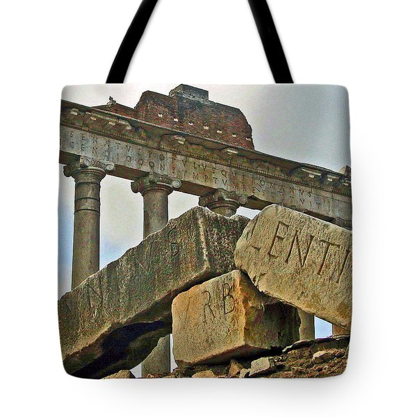 Temple Of Saturn In The Roman Forum Tote Bag
