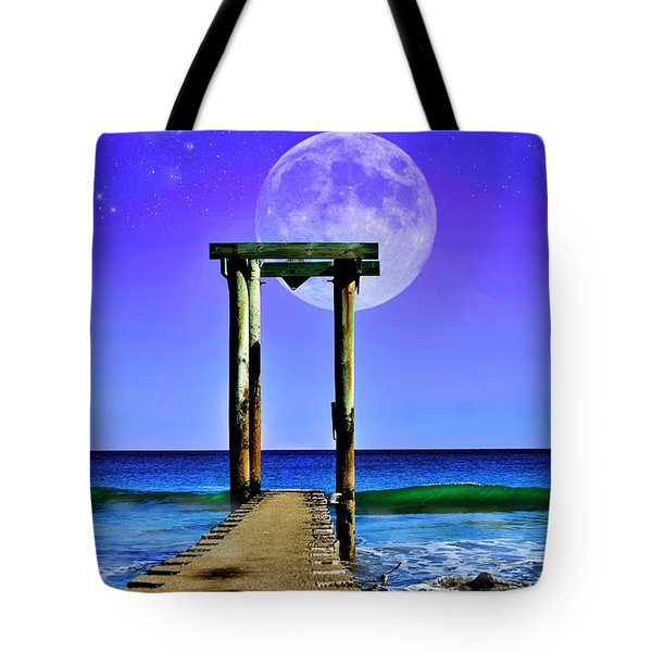 Temple Of The Atlantic Tote Bag