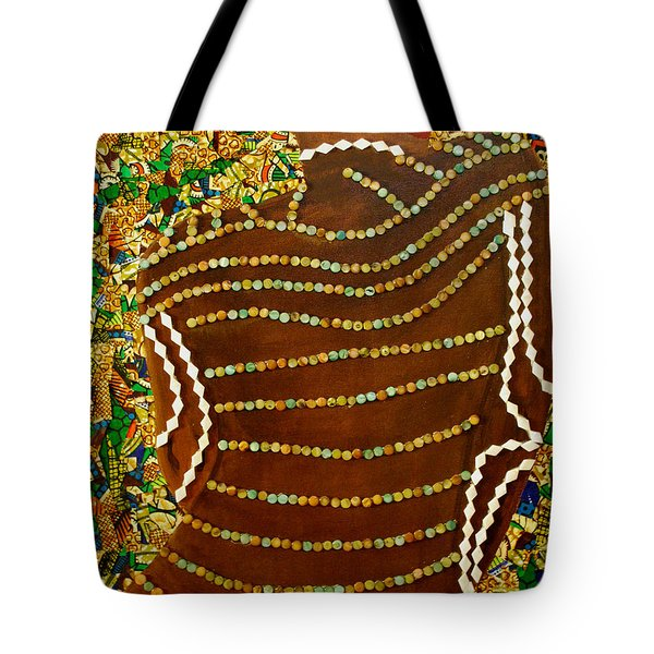 Tote Bag featuring the tapestry - textile Temple Of The Goddess Eye Vol 2 by Apanaki Temitayo M