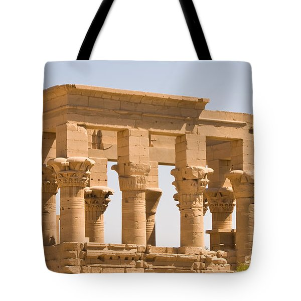 Temple Out Building Tote Bag