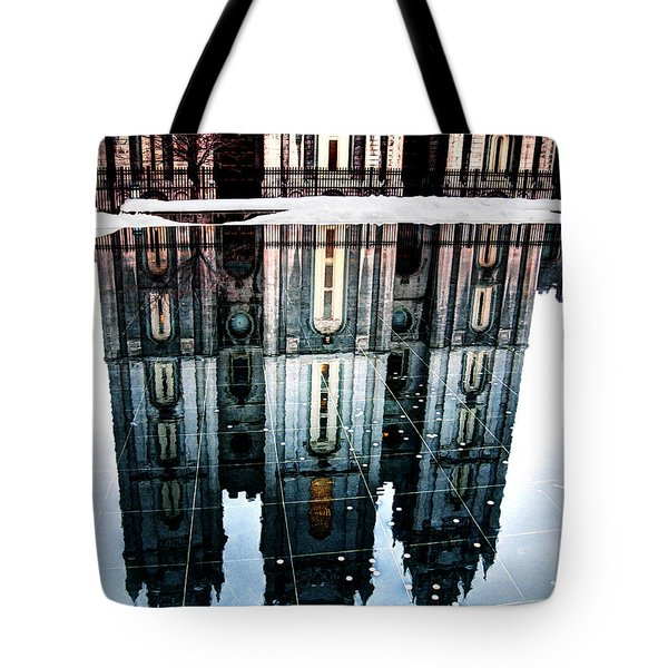 Tote Bag featuring the photograph Temple Reflection by Jim Hill
