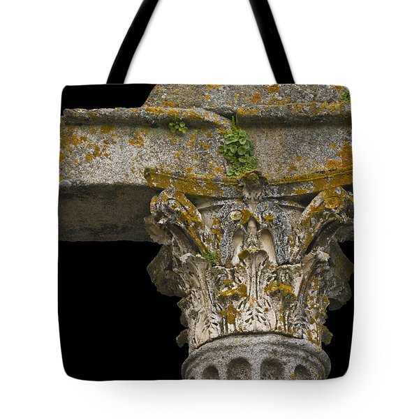 Temple Ruin Fragment Tote Bag by Heiko Koehrer-Wagner