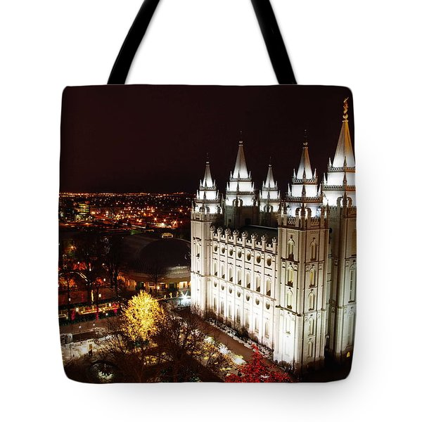 Temple Square Tote Bag
