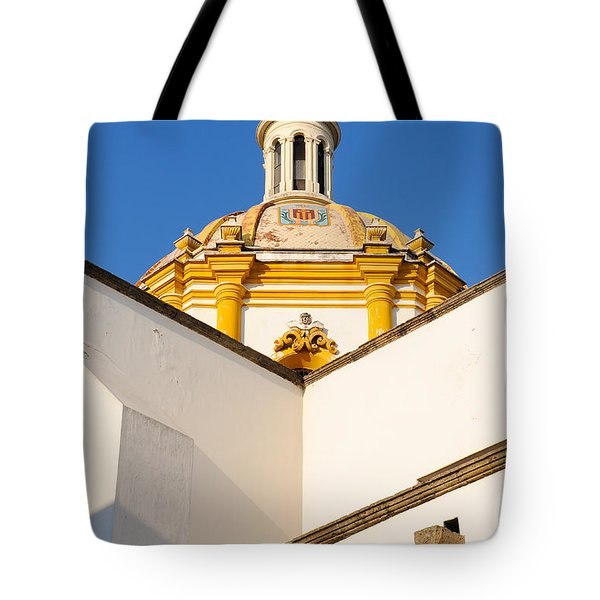 Tote Bag featuring the photograph Templo De La Merced Guadalajara Mexico by David Perry Lawrence