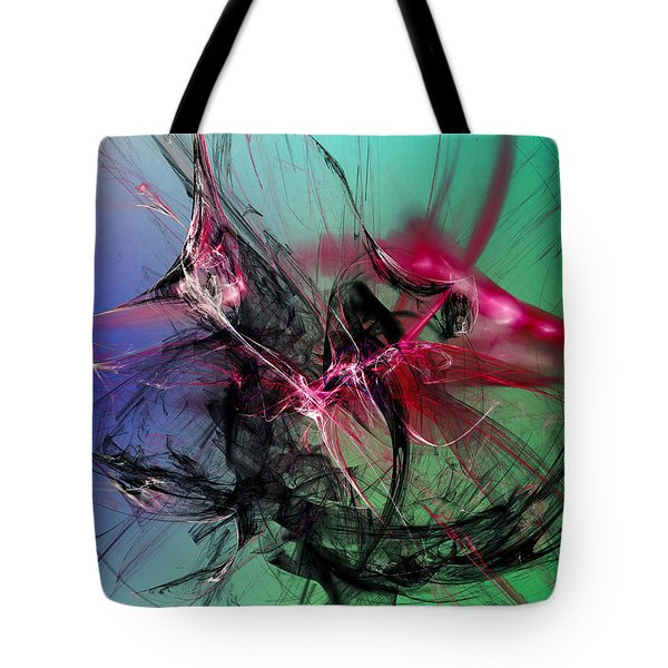 Tote Bag featuring the digital art Temporal Information Retrieval by Jeff Iverson
