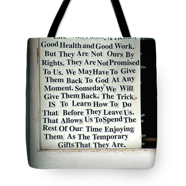 Temporary Gifts Tote Bag