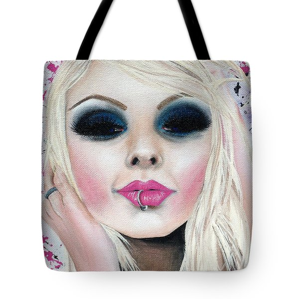 Temptation Tote Bag by Oddball Art Co by Lizzy Love