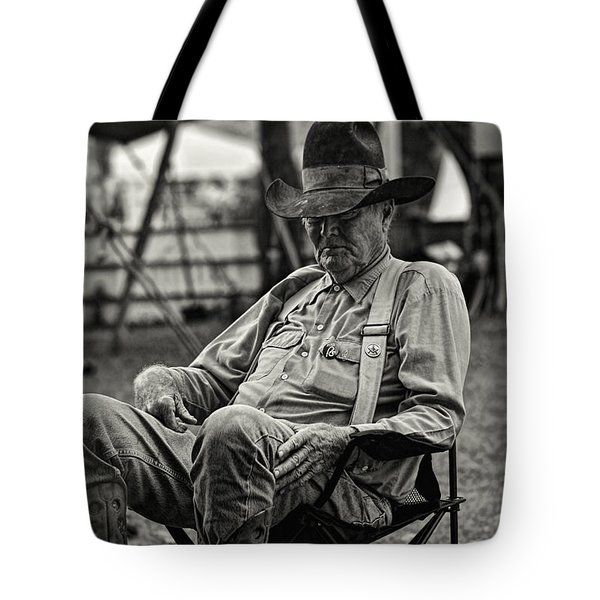 Cowboy And The Ten Gallon Hat Tote Bag