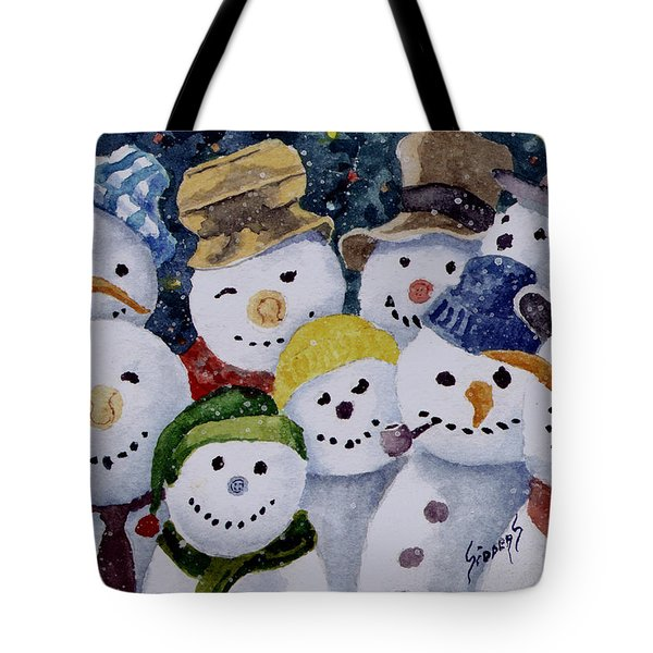Ten Little Snowmen Tote Bag