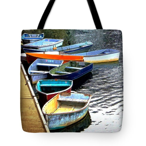 Ten Rockport Dinghies Tote Bag