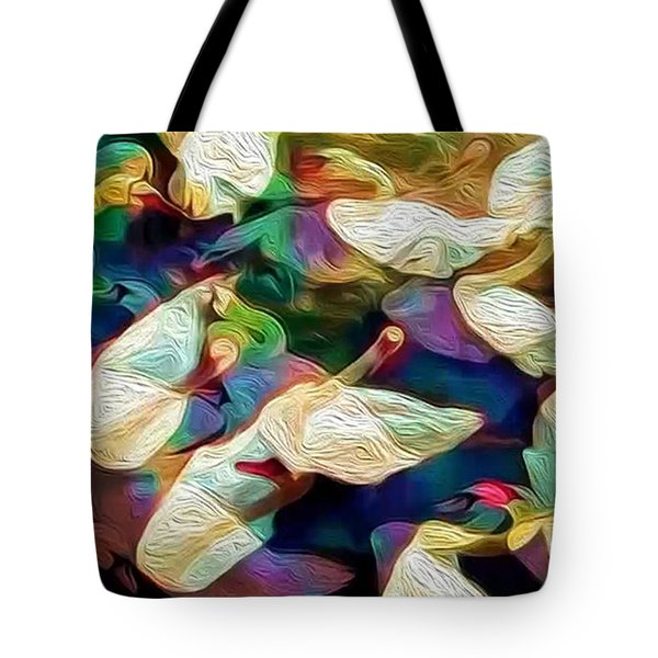 Tote Bag featuring the photograph Ten Swans A Swimming by Jack Torcello