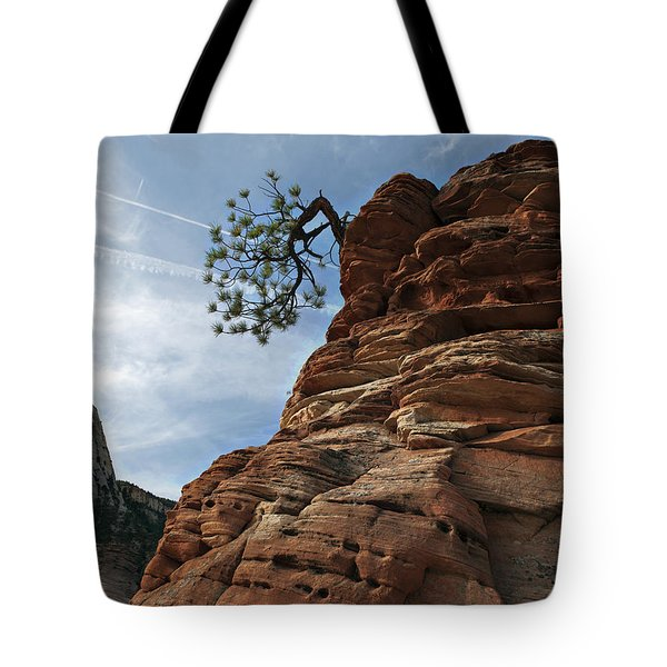 Tote Bag featuring the photograph Tenacity by Joe Schofield