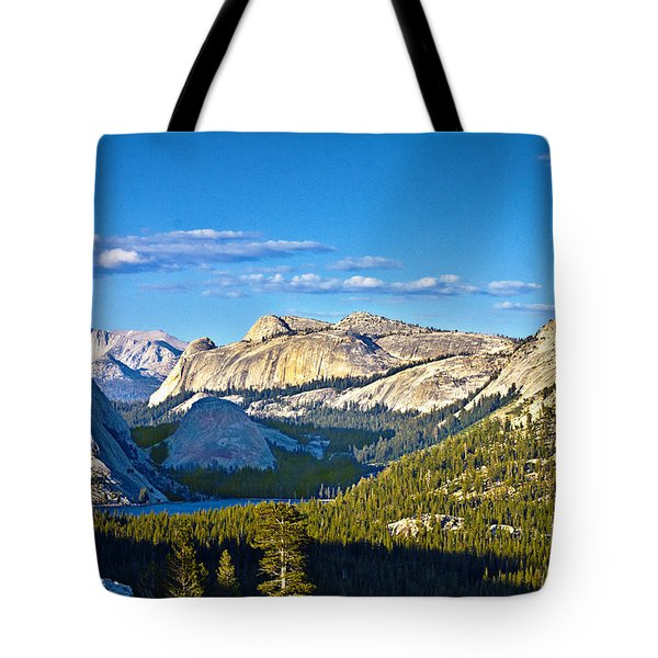 Tenaya Lake From Olmsted Point In Evening Tote Bag