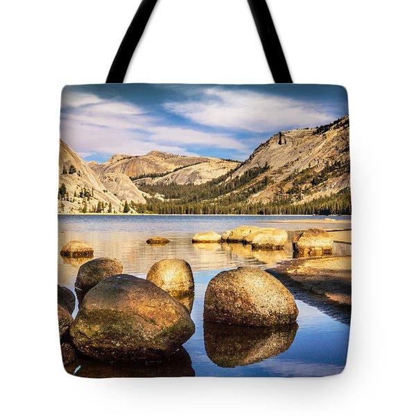 Tenaya Lake Stones Tote Bag by Janis Knight