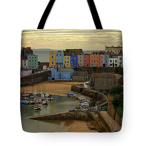 Tenby Harbour In The Morning Tote Bag
