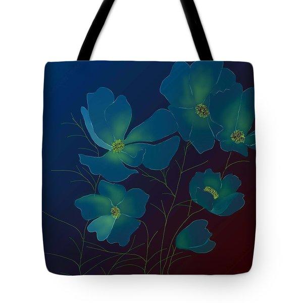 Tender Cosmos Tote Bag by Latha Gokuldas Panicker