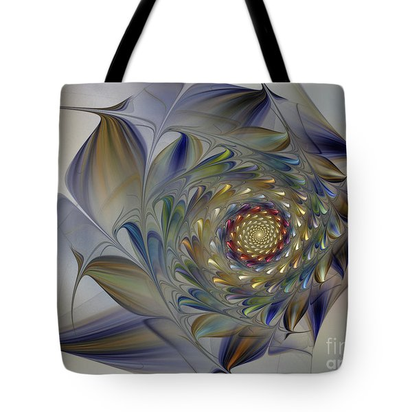 Tender Flowers Dream-fractal Art Tote Bag