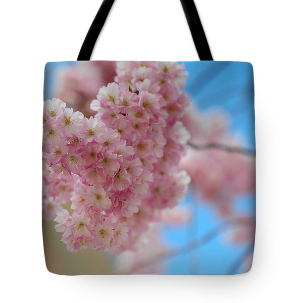 Tender Whisper. Pink Spring In Amterdam Tote Bag by Jenny Rainbow
