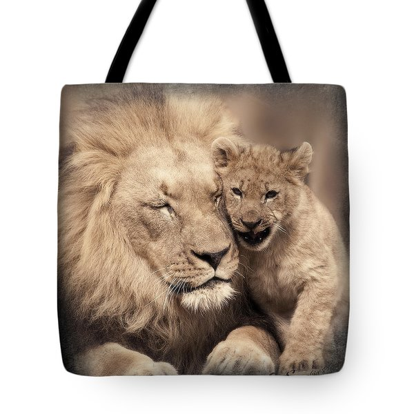 Tenderness Tote Bag by Christine Sponchia
