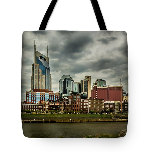 Tennessee - Nashville From Across The Cumberland River Tote Bag