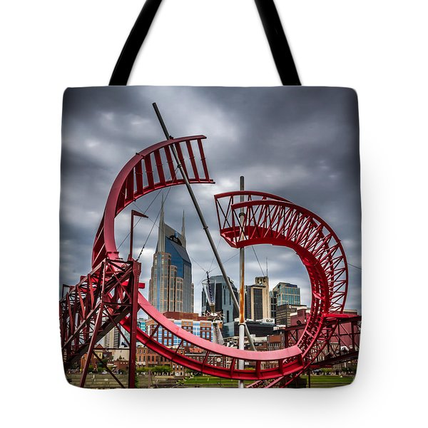 Tennessee - Nashville Through Sculpture Tote Bag