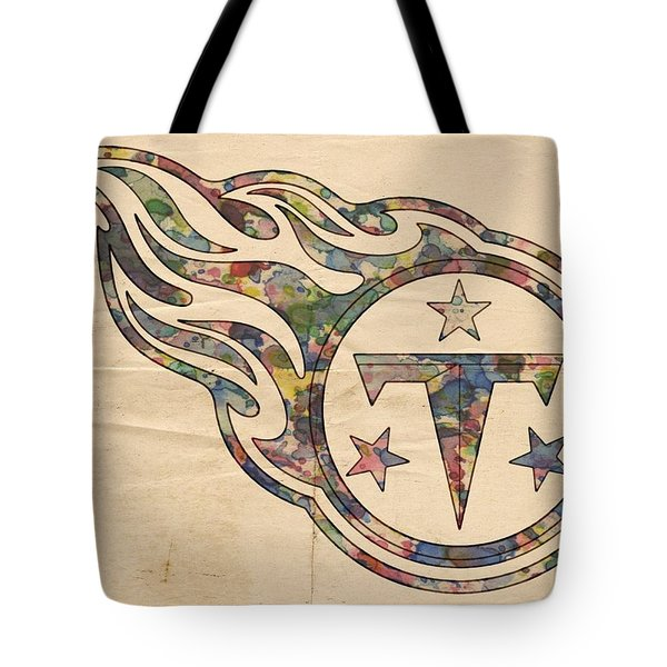 Tennessee Titans Poster Art Tote Bag by Florian Rodarte