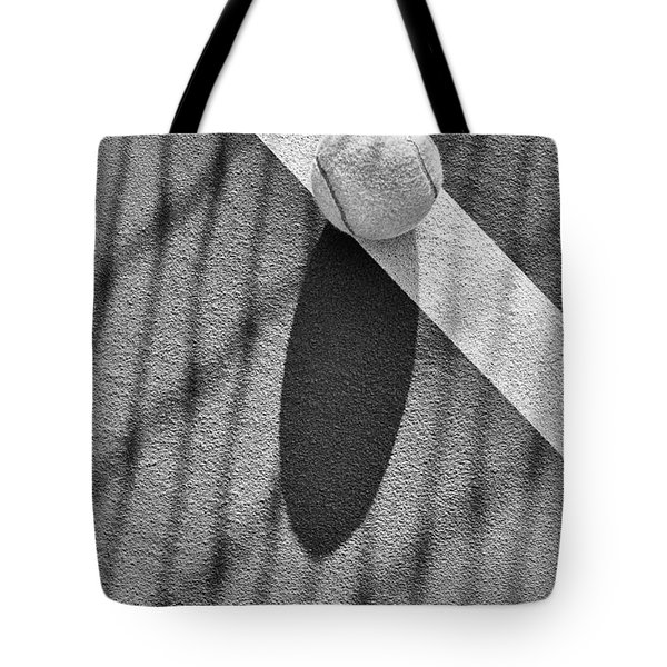 Tennis Ball And Shadows Tote Bag