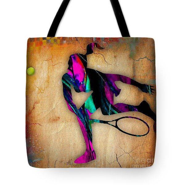 Tennis Painting Tote Bag