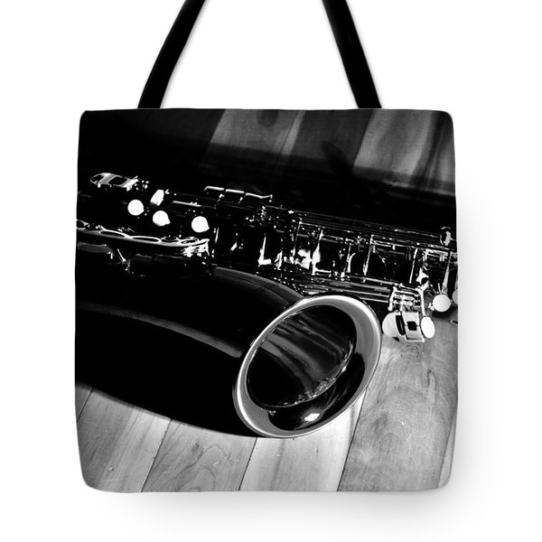 Tenor Sax Tote Bag by Benjamin Yeager
