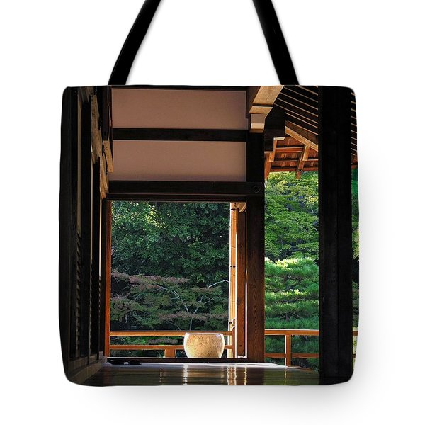 Tote Bag featuring the photograph Tenryui-ji - Temple - Kyoto by Jacqueline M Lewis