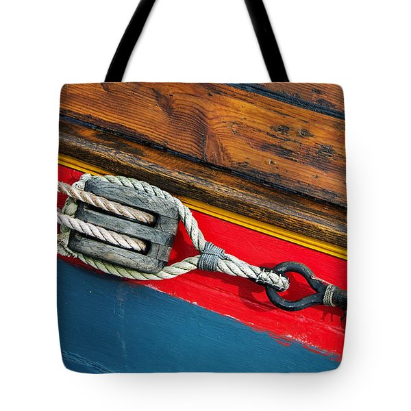 Tension On The Sailing Vessel Tote Bag