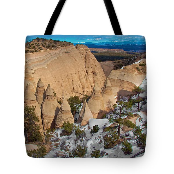 Tote Bag featuring the photograph Tent Rocks National Monument by Britt Runyon