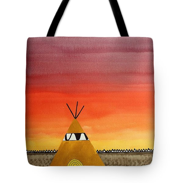 Tepee Or Not Tepee Original Painting Tote Bag