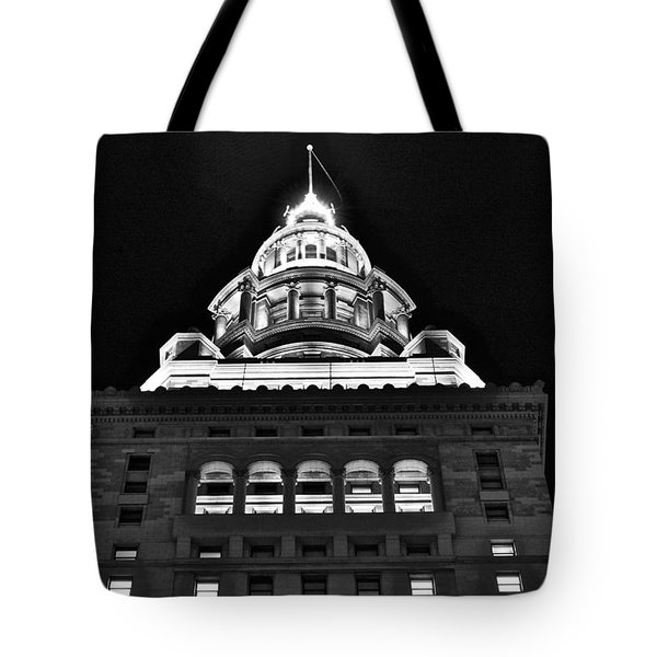 Terminal Tower Black And White Tote Bag
