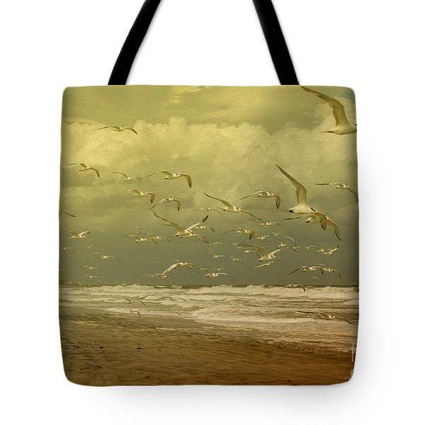 Terns In The Clouds Tote Bag