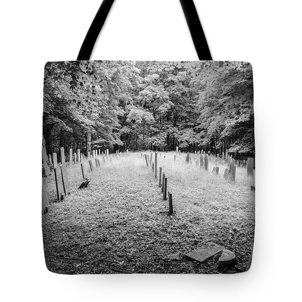 Terpenning Cemetery B And W Tote Bag