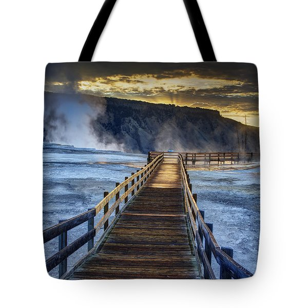 Terrace Boardwalk Tote Bag by Mark Kiver