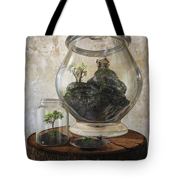 Terrarium Tote Bag by Cynthia Decker