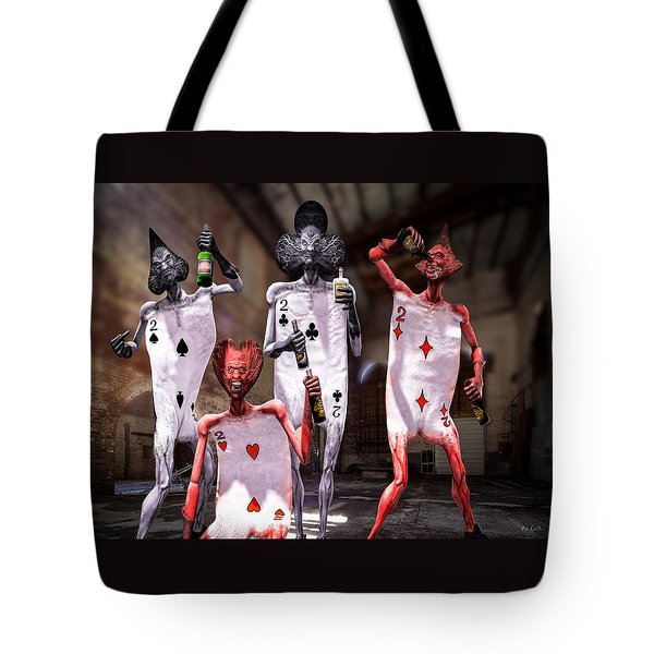 Terrible Twos Or Deuces Wild  Tote Bag by Bob Orsillo