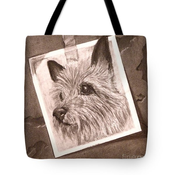 Terrier As Optical Illusion Tote Bag