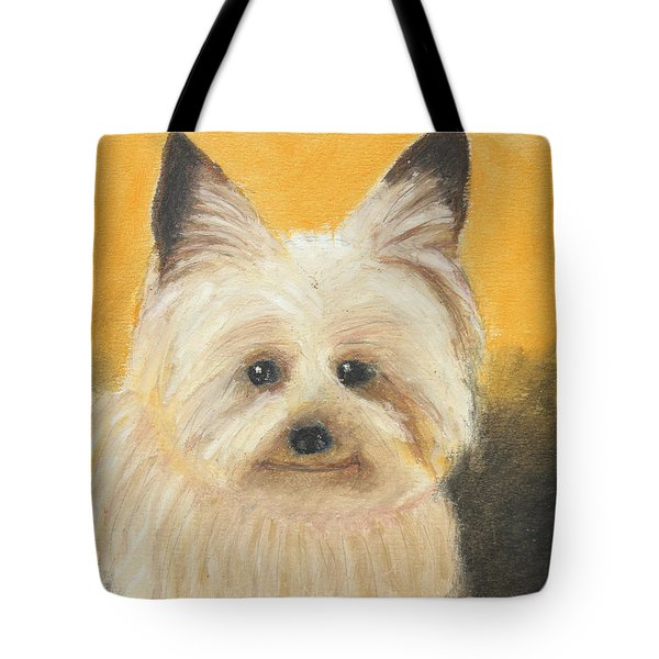 Tote Bag featuring the painting Terrier by Jeanne Fischer
