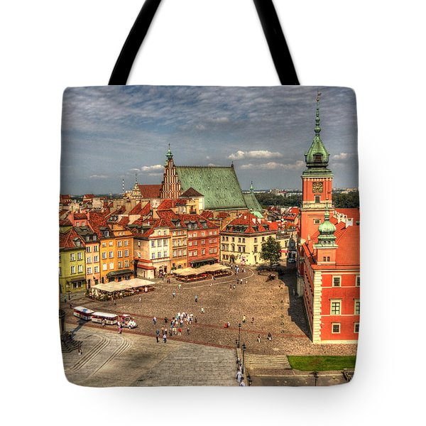 Tote Bag featuring the photograph Terrific Warsaw - The Castle And Old Town View by Julis Simo