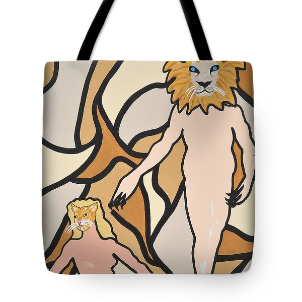 Tote Bag featuring the painting Terrorized by Erika Chamberlin