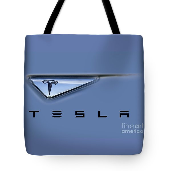 Tesla Model S Tote Bag by David Millenheft