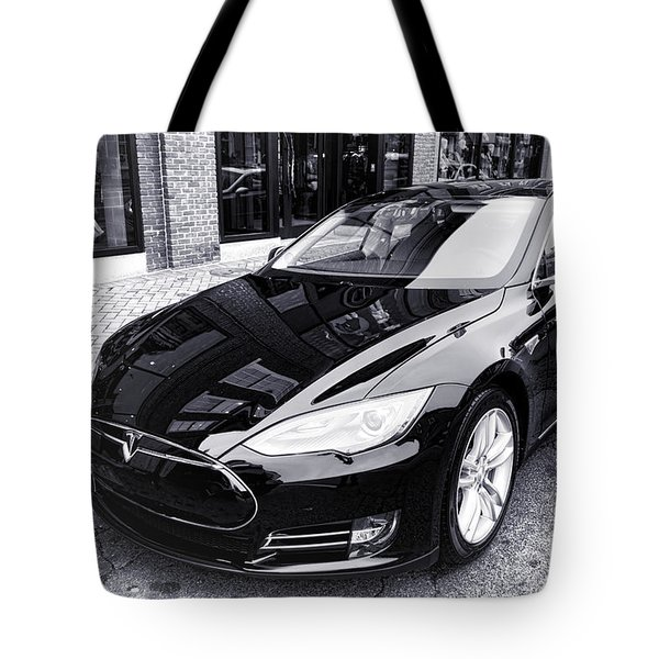 Tesla Model S Tote Bag