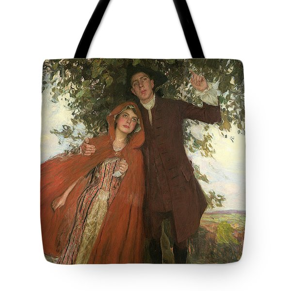Tess Of The D'urbervilles Or The Elopement Tote Bag by William Hatherell