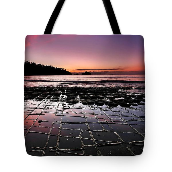Tesselated Pavement Sunrise Tote Bag by Bill  Robinson