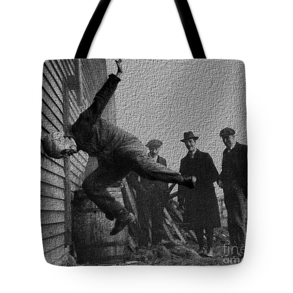 Testing Football Helmets In 1912 Ouchhhhh Tote Bag