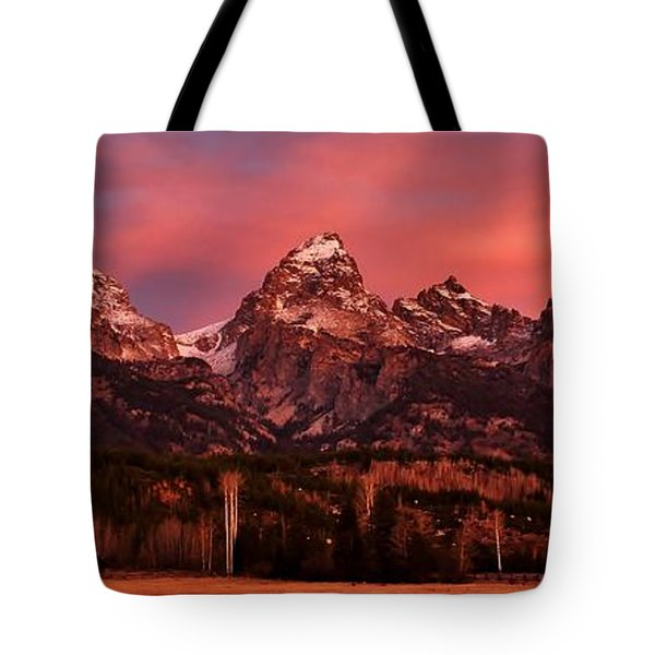 Tote Bag featuring the photograph Teton Color by Benjamin Yeager