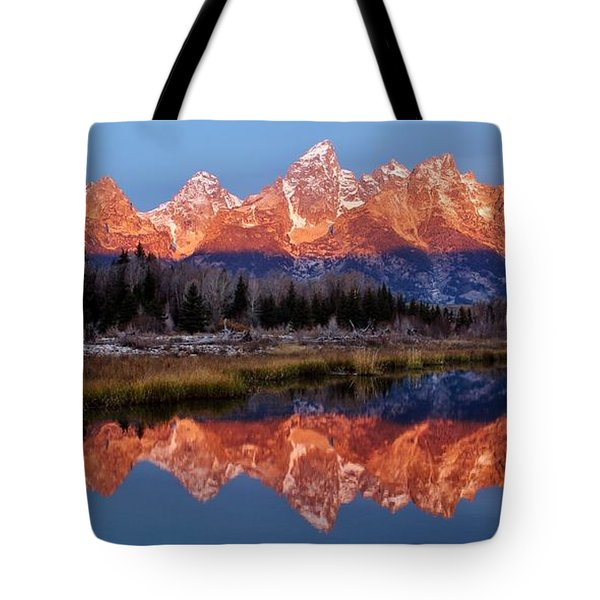 Tote Bag featuring the photograph Teton Majesty by Benjamin Yeager